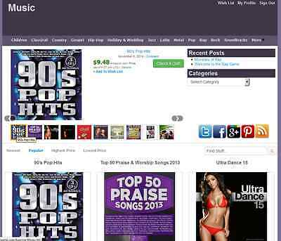 Music Store Amazon Affiliate Website Make Money Free Installation + Hosting