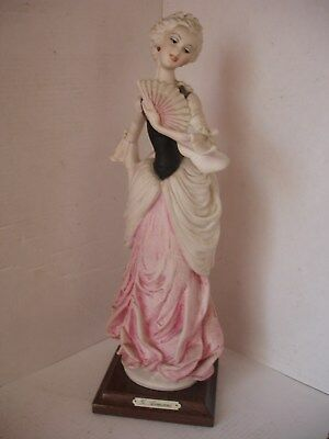 Beautiful Capodimonte figurine Lady with fan by G,Armani.Italy.