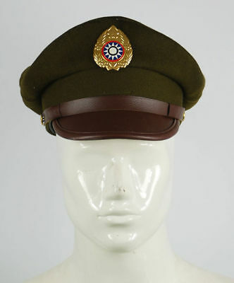 Ww2 Chinese Nationalist Forces Officers Kmt Kuimingtang Army Service Cap Hat Xl