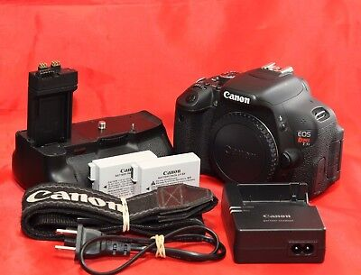 Canon EOS T3i / EOS 600D 18.0MP DSLR Camera- Black Body with Battery Grip