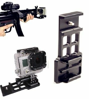 Cantilever Picatinny Weaver Camera Gun Rail Mount fo GoPro Hero 1/2/3/4 Hunters