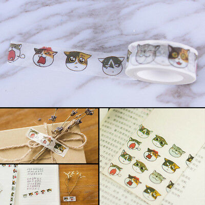 1.5cm*7m Cat washi tape DIY decoration scrapbooking masking tape adhesive tapeSK