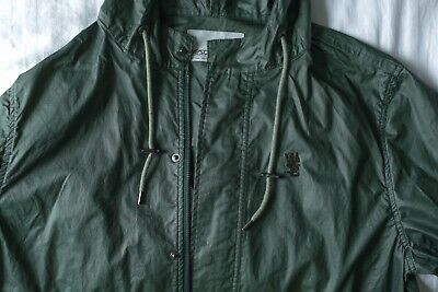 WeSC Hooded Unisex Waxed Parka Jacket Dark Green Clothing/Coat Size Medium
