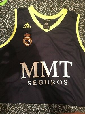 Real Madrid Baloncesto Adidas Size L Large Basketball Jersey