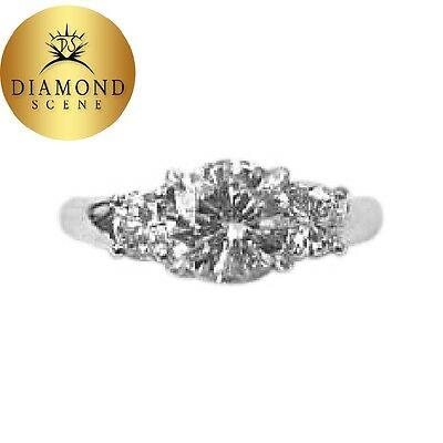 Gia Certified Round Diamond 1.51 Ct 4 Prong Platinum G Color Vs2 Clarity Grade
