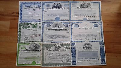 18 historic stock certificates USA. make an offer