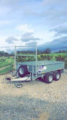 Ifor Williams Trailer flat bed 8x6,all the extras,2700kg,like new,log Book,keys