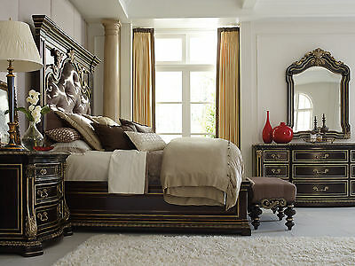ROSSI 5 pieces Traditional Solid Oak Bedroom Set Furniture w/ King Mansion Bed