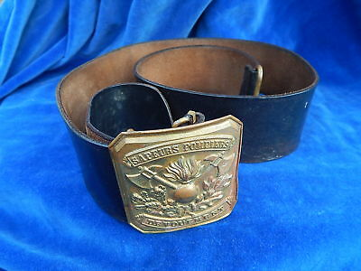 CEINTURE / Belt - POMPIER / Firefighter - ETAT RARE / Rare condition - TOP !