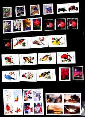 US 2014 Booklet Stamps, Mint Never Hinged, 38 Stamps, Various