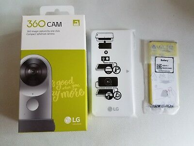 NEW Sealed LG 360 CAM Spherical Camera Wide-Angle 2K Video Silver +Battary