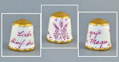 Handpainted Germany P J Walter Of Lindau 1992 Thimble