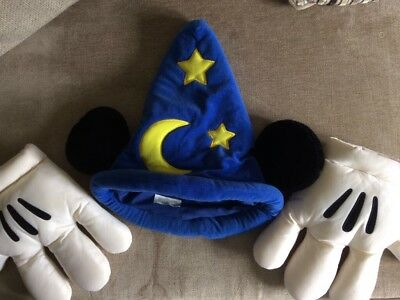Childs Mickey Mouse Fantasia Hat & Gloves From Disneyland Paris (Fancy dress)
