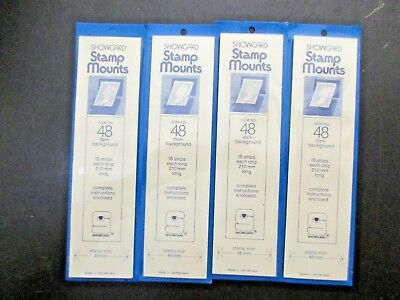 Showgard Stamp Mounts 4 Packages Size 48, all unopened