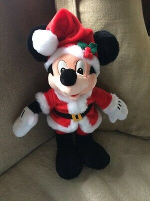 Disney Christmas Mickey Mouse Soft Toy From Disneyland Paris
