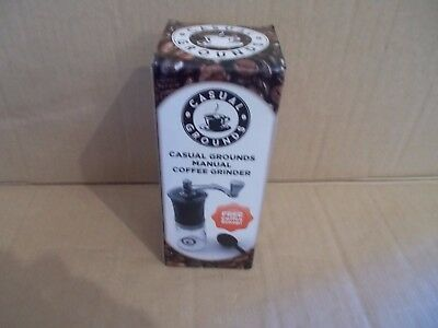 Casual Grounds Manual Coffee Grinder With Coffee Scoop - Free Shipping