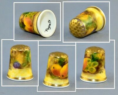 Graham Payne Hand Painted Fruits Thimble