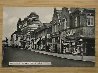 Old RPPC WATFORD Clarendon Road & Palace Theatre Herts