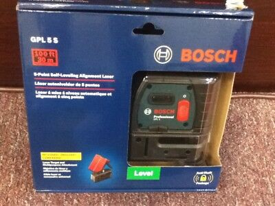 Bosch 5 Point Self Leveling Alignment Laser, GPL 5S.New in box