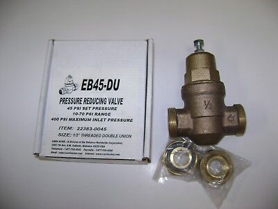 "CASH ACME EB45 1/2"" Adjustable Pressure Reducing Valve - USA"