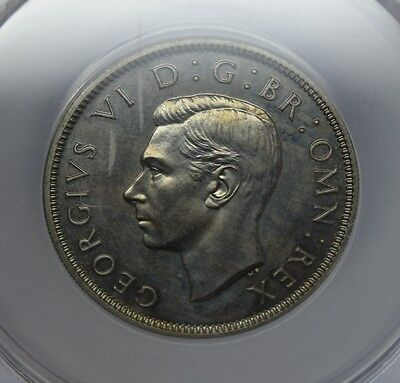 George VI 1950 two sillings florin proof graded by anacs PF 64 beutifull coin