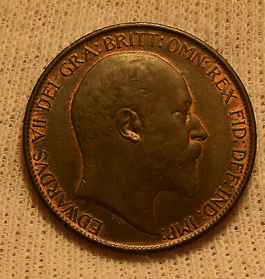 uk great britain half penny 1/2 penny unc uncirculated  ms60 -61 very nice coin