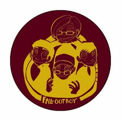 Fall Out Boy Characature Button B-3713