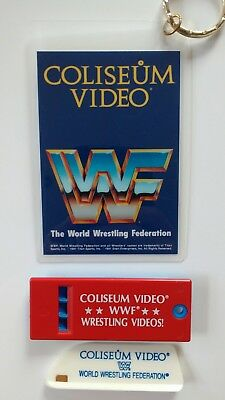 WWF Keyring Whistle Paper cutter Coliseum Video WWE Ultimate Warrior Hulk Hogan