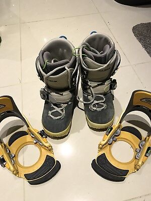 BURTON Step In SI Ruler Snowboard Boots and Bindings – UK 9.5, US 10.5, EUR 43.5