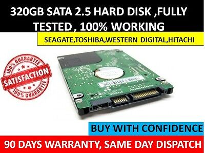 "Western Digital 320GB  2.5"" Sata Laptop Hard Disc Drive HDD WD For All Laptop"