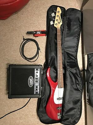 Peavey Milestone 3 Bass Guitar With Amp and More