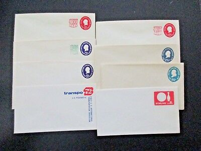US Postal Lot of 43 New Stationary Valued Envelopes assortment, Duplicates, Nice