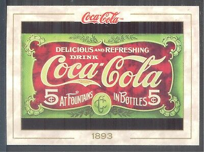 Year 1893: 1st Registered Trademark, 1993 Coca-Cola Series 1 Card #5