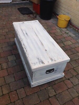 Shabby Chic Pine Chest/Toy Box/Blanket Box / Coffee Table