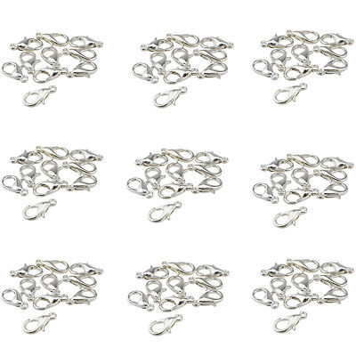 Curved Lobster Clasps Silver Plated Lobster Claw Clasps Findings Choose Quantity