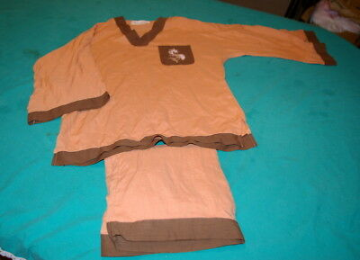 Pyjama Orange Chocolat Pierre Clarence Taille S/m