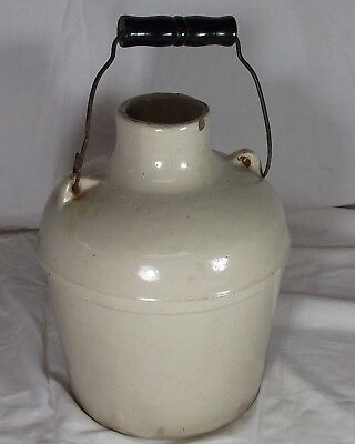 Primitive 1 Gallon Stoneware Red Wing Whiskey Jug Water Jug With Handle