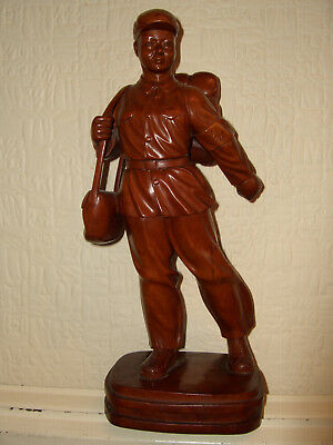 Vintage Hand Carved Wooden Chinese Soldier