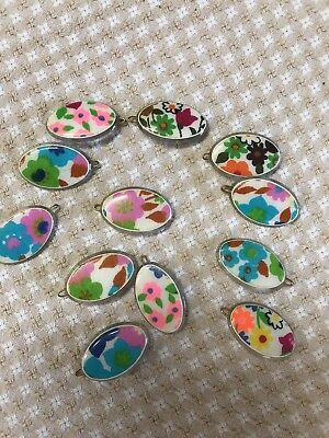 12 Vintage Made In France Hippie Style Hair Barrettes Halloween Retro