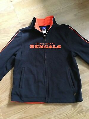 NFL Cincinnati Bengals Reebok fleece full zip jacket. SizeL L