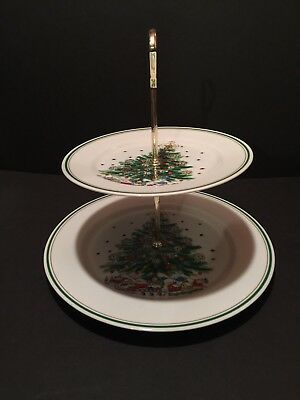 "Salem ""Christmas Eve"" Two Tier Serving Tray"