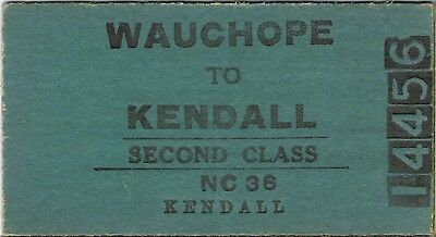 Railway ticket a trip from Wauchope to Kendall by the old NSWGR