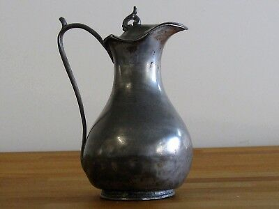 Very old silver plate pitcher
