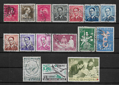 1946-1963 Belgium Set Of 16 Used Stamps