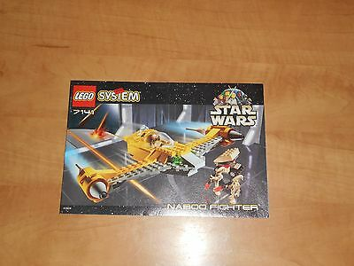 LEGO Star Wars Naboo Fighter Starfighter Instructions Only 7141 1999 NM Vintage
