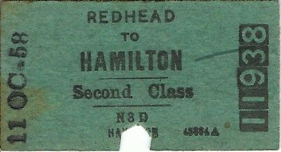 Railway ticket a trip from Redhead to Hamilton by the NSWGR in 1958