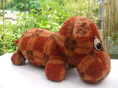 Vintage - Ancienne Peluche Chien Basset Ecossais  36 Cm Ajena Made In France