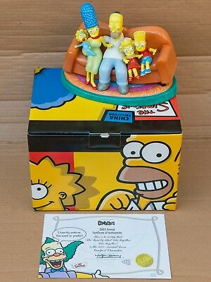 The Simpsons Coalport Characters China Collection Figure Annual 2005 Family Sofa