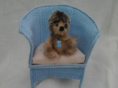 """Ooak Baby ***willow*** A Cuit Miniature 2 1/2"""" Mohair  Hedghog/bear."""