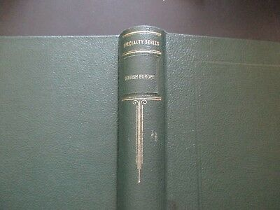 British Colonies Europe Scotts Speciality Album, 1919-1970, No Stamps